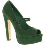 Asos Pepper Mary Jane Platform Court Shoe With Peep Toe
